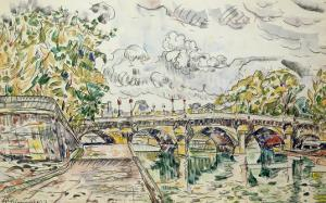 The Pont Neuf, Paris, 1927 by Paul Signac