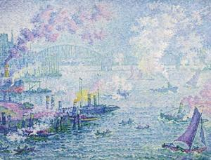 The Port of Rotterdam by Paul Signac