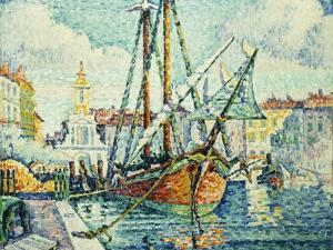 The Port of St. Tropez; Le Port de St. Tropez, 1923 by Paul Signac
