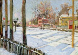The Snow, Bois, 1886 by Paul Signac