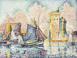 Tuna Boat Entering the Port of La Rochelle, Setting; Le Thonier Entrant Dans Le Port de La… by Paul Signac