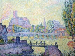 View of the Bridge of Auxerre, 1902 by Paul Signac