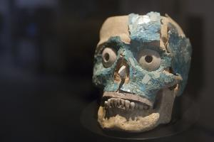 Aztec Skull Mask by Paul Souders