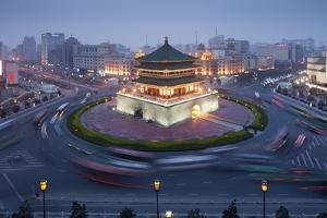 Bell Tower in Middle of Traffic Circle by Paul Souders