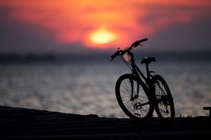 Bicycle at Sunset, Jersey Shore, New Jersey by Paul Souders