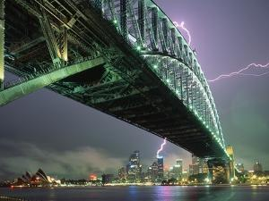 Bridge and Lightning at Sydney Harbour by Paul Souders