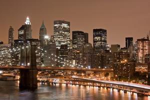 Brooklyn Bridge and Manhattan Skyline, New York City by Paul Souders