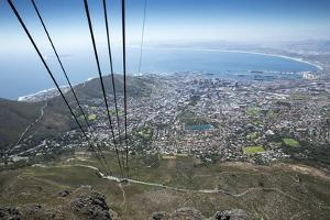 Cable Car, Table Mountain National Park, Cape Town, South Africa by Paul Souders