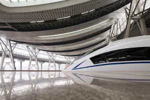 China, Beijing, Crh High Speed Railway Locomotive by Paul Souders