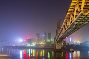China, Chongqing, Dongshuimen Bridge Above Yangtze River by Paul Souders