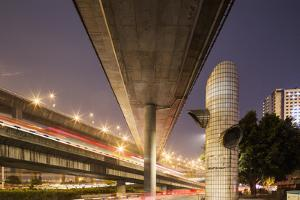China, Chongqing, Overhead Expressways on Autumn Evening by Paul Souders
