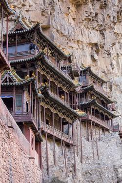 China, Shanxi Province, Hang Shen Mountain, Hanging Palace by Paul Souders