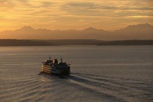 Ferry Boat in Elliot Bay by Paul Souders