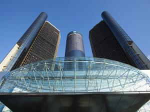 General Motors Corporate Headquarters in the Renaissance Center, Detroit, Michigan, Usa by Paul Souders