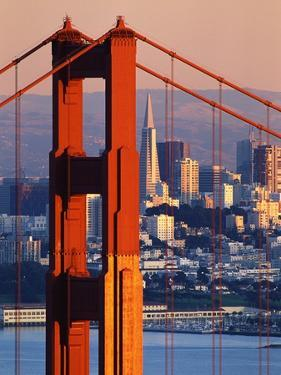 Golden Gate Bridge and San Francisco Skyline by Paul Souders