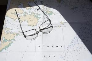Hudson Bay Marine Chart, Canada by Paul Souders