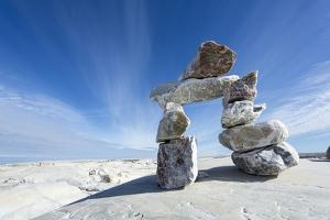 Inukshuk, Nunavut Territory, Canada by Paul Souders