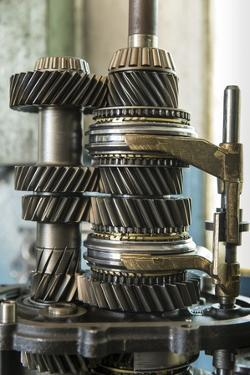 Land Rover Transmission Parts in Garage, Zambia by Paul Souders
