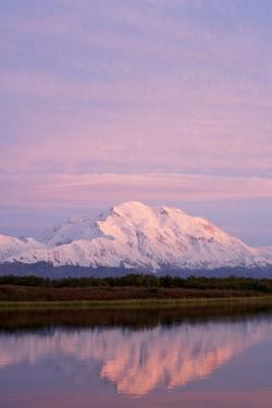 Mount Mckinley at Sunset in Denali National Park by Paul Souders