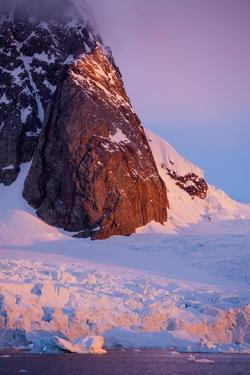 Mountain Peak and Glacier in Lemaire Channel, Antarctica by Paul Souders