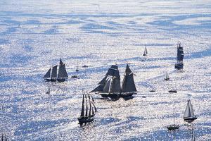 Pride of Baltimore II in Great Chesapeake Race by Paul Souders