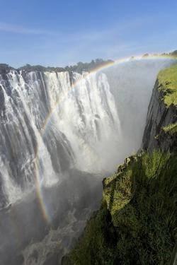 Rainbow above Victoria Falls, Mosi-Oa-Tunya National Park, Zambia by Paul Souders