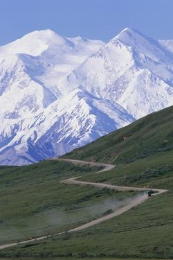 Road in Thorofare Pass Below Mt. Mckinley by Paul Souders
