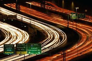 Rush Hour Traffic on Interstate 5 by Paul Souders