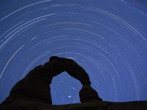 Star Trails over Delicate Arch by Paul Souders