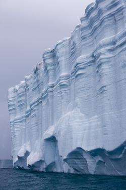 Striated Face of Brasvellbreen Glacier on Nordaustlandet by Paul Souders