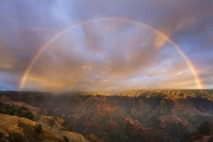 Sunset Rainbow, Waimea Canyon, Kauai, Hawaii by Paul Souders