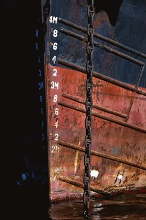 Tugboat Bow and Lowered Anchor Chain by Paul Souders