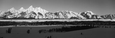 View of Teton Range at Dawn, Grand Teton National Park, Wyoming, USA by Paul Souders
