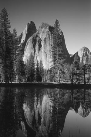 View of Valley's Sheer Rock with Pond, Yosemite National Park, California, USA by Paul Souders