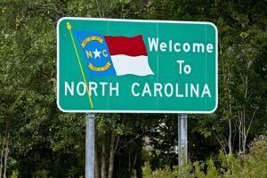 Welcome to North Carolina Sign by Paul Souders