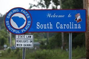 Welcome to South Carolina Sign by Paul Souders