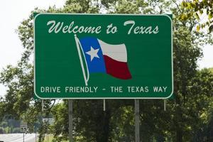 Welcome to Texas Sign by Paul Souders