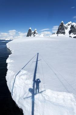 Yacht's Shadow and Iceberg, Antarctica by Paul Souders