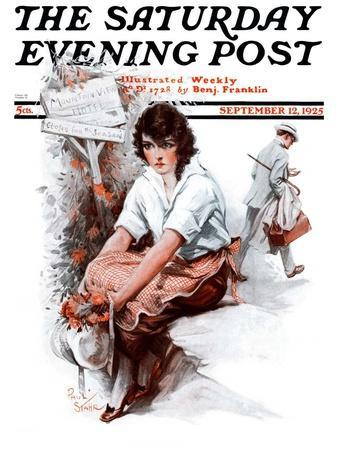 """""""End of the Season,"""" Saturday Evening Post Cover, September 12, 1925"""