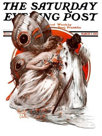 """""""Kissing Winter Goodby,"""" Saturday Evening Post Cover, March 7, 1925"""