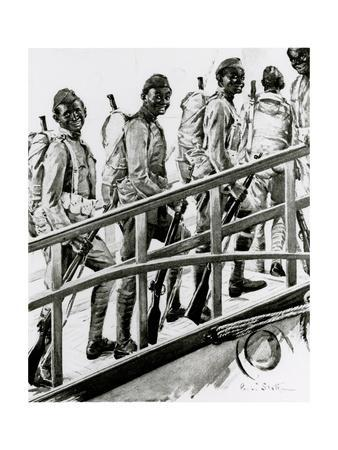 WW1 - African-American G.I.'s Embark for France