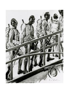 WW1 - African-American G.I.'s Embark for France by Paul Stahr
