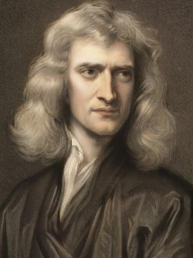 1689 Sir Isaac Newton Portrait Young by Paul Stewart