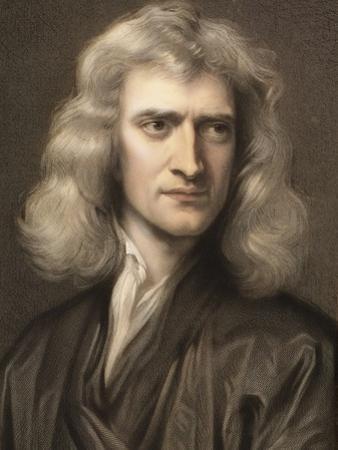 1689 Sir Isaac Newton Portrait Young by Paul Stewart