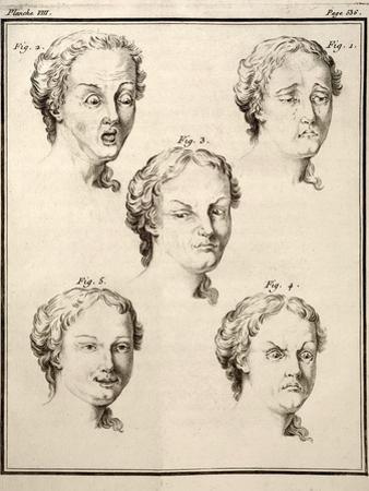 1749 Human Emotions And Expression Buffon by Paul Stewart