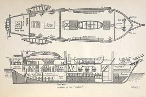 1832 Darwin's Ship HMS Beagle Plan by Paul Stewart