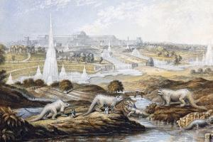 1854 Crystal Palace Dinosaurs by Baxter 1 by Paul Stewart