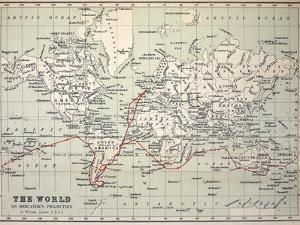 Map Darwin's Beagle Voyage South America by Paul Stewart