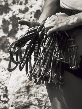 Detail of Hands with Climbing Equipments by Paul Sutton