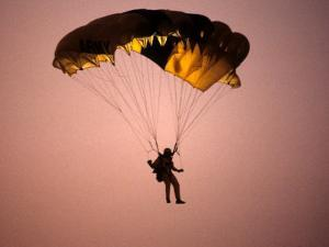 Sky Diver Floating in the Air by Paul Sutton